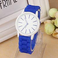 Оригинальные модные женские часы ,силиконовый ремешок, синие