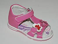 Calorie арт.A131-9P роз бабочки     Босоножки для девочек. Ортопед.