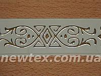 Декоративная лента Виктория 65 мм Бук с золотым рисунком к потолочному карнизу усиленному СМ