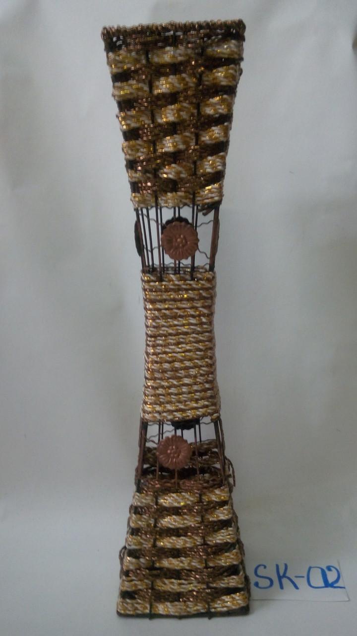 Ваза плетеная,напольная