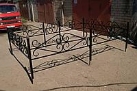Кованая ритуальная оградка 1