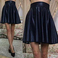 Женская кожаная юбка клеш