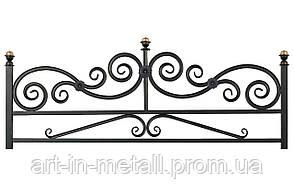 Кованая ритуальная оградка 2