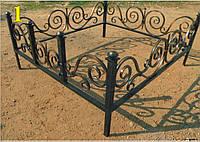 Кованая ритуальная оградка 3