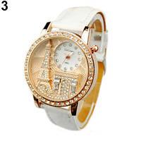 Наручные часы Париж с белым ремешком