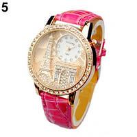 Наручные часы Париж с розовым ремешком