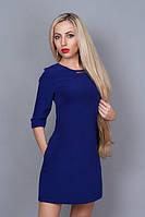 Качественное женское платье цвета электрик