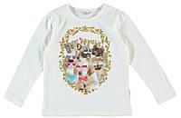Реглан для девочки LC Waikiki белого цвета с собачками