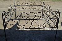 Кованая ритуальная оградка 7