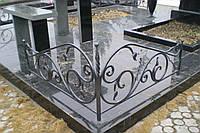 Кованая ритуальная оградка 9
