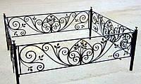 Кованая ритуальная оградка 10