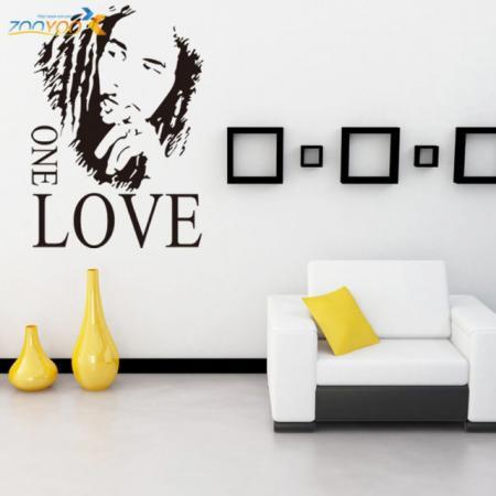 Наклейки декор на стену Боб Марли one love