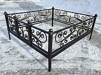 Кованая ритуальная оградка 11