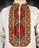 Серая сорочка вишиванка из льна для мужчин, фото 3