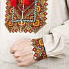 Серая сорочка вишиванка из льна для мужчин, фото 4