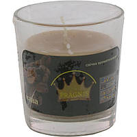 Арома свеча в стакане Pragnis с ароматом кофе 80мм