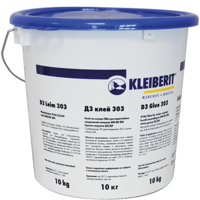 Столярный ПВА клей D3 Клейберит 303.0 (10 кг)