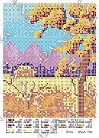 Схема для вышивания бисером DANA Осень1108