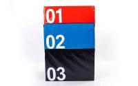 Бокс плиометрический мягкий (1шт)  SOFT PLYOMETRIC BOXES (EPE, PVC, р-р 70х70х60см, черный)