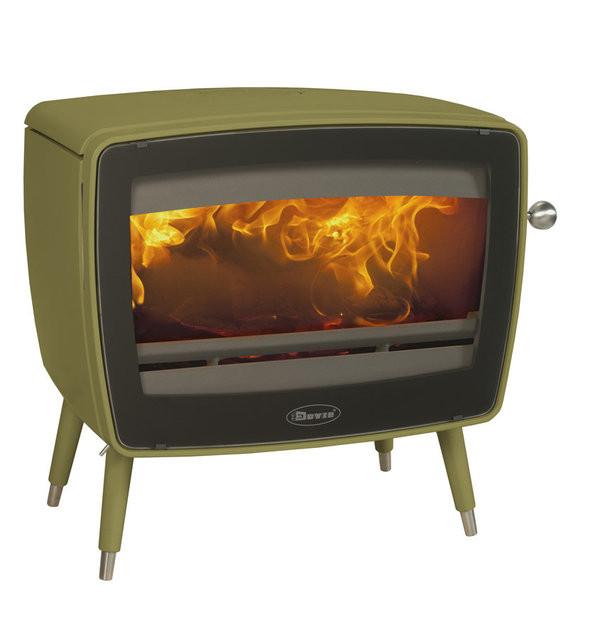 Чугунная печь Dovre Vintage 50/Е9  эмаль оливковый зеленый  - 9 кВт