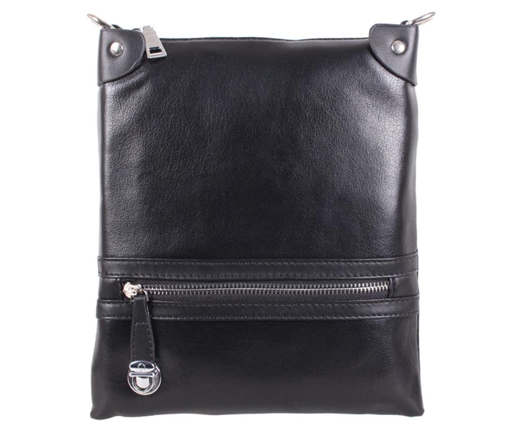 Мужская сумка из искусственной кожи 600-129 Черная