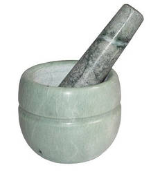 Ступа мраморная Ø 8.5 см с мраморным пестиком 13 см
