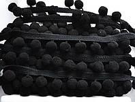 Тасьма с помпонами 20 мм черные