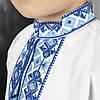 Детская вышиванка для мальчика с голубым орнаментом, фото 6