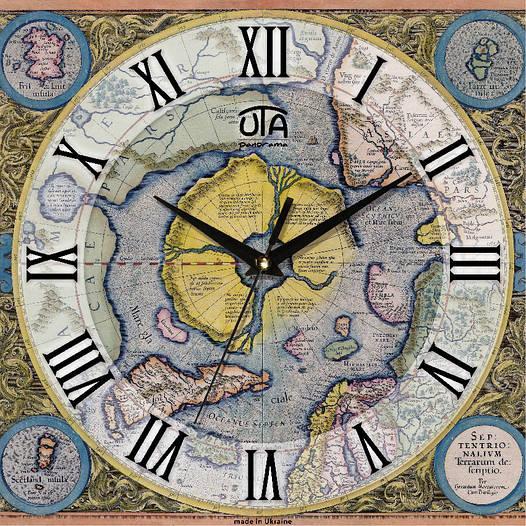 Настенные часы квадратные 300Х300Х16мм [МДФ, Открытые]