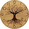 """Часы настенные в стиле кантри 330Х330Х30мм """"Дерево"""" [Натуральное дерево, Открытые]"""