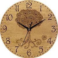 """Настенные часы в стиле прованс 330Х330Х30мм """"Дерево"""" [Натуральное дерево, Открытые]"""