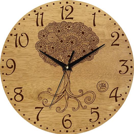 "Настенные часы 330Х330Х30мм ""Дерево"" [Натуральное дерево, Открытые]"