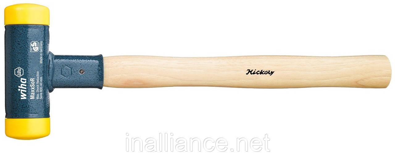 Молоток 35 х 355 мм без віддачі з поліуретану з дерев'яною ручкою з карія Wiha 02094