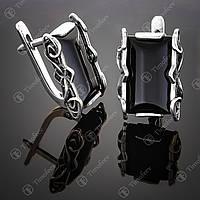 Серебряное кольцо с ониксом. Артикул С-130