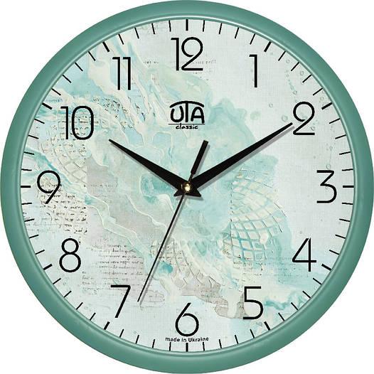 Необычные настенные часы 300Х300Х45мм [Пластик, Под стеклом]
