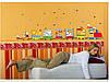 Цветные наклейки на стену паровозик декор для детской комнаты, фото 2
