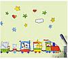 Цветные наклейки на стену паровозик декор для детской комнаты, фото 4