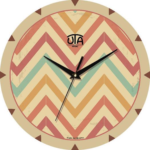 """Часы настенные модерн 240Х240Х30мм """"Зигзаги"""" [МДФ, Открытые]"""