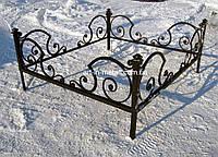 Кованая ритуальная оградка 12
