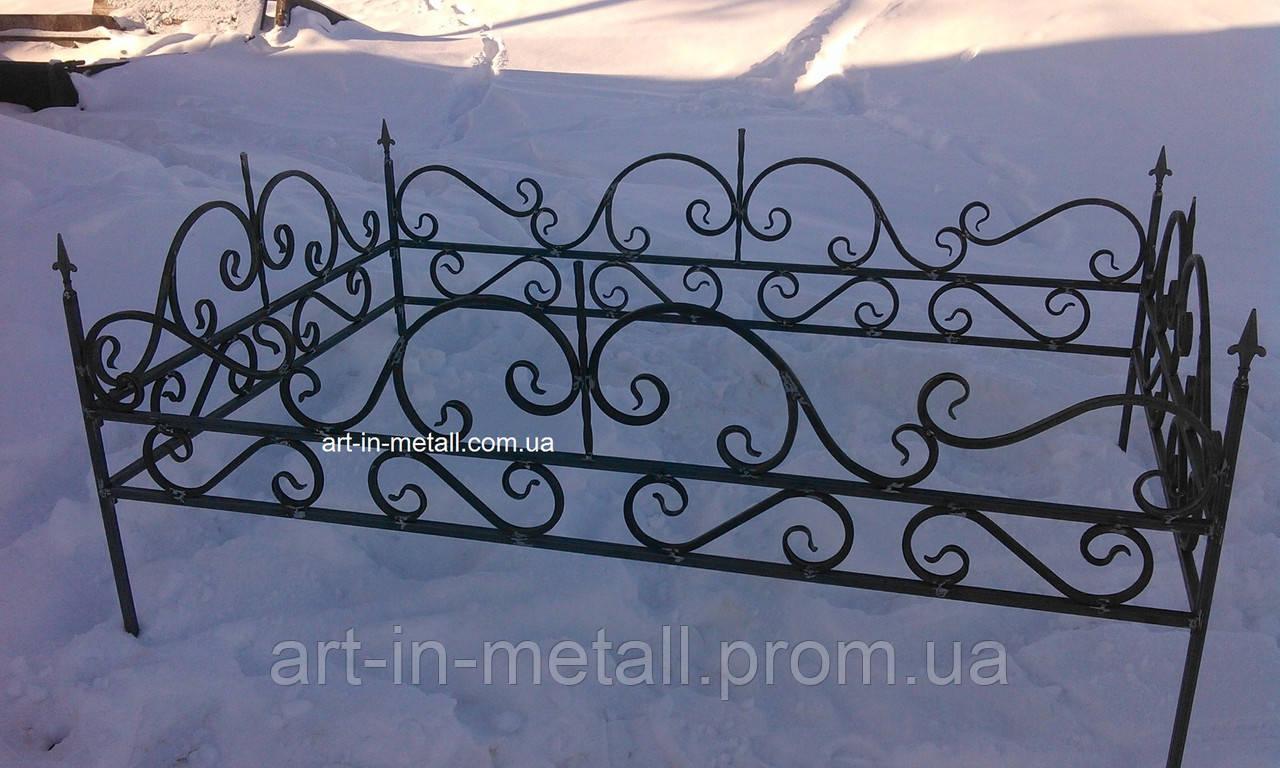 Кованая ритуальная оградка 14 - Art-in-Metall в Харькове