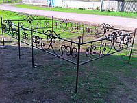 Кованая ритуальная оградка 15