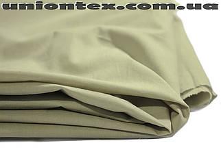 Рубашечная ткань стрейчевая зеленовато- серая
