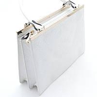 Женская стильная сумочка белая с узором