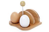 Набор для специй: солонка, перечница и салфетница на бамбуковой подставке