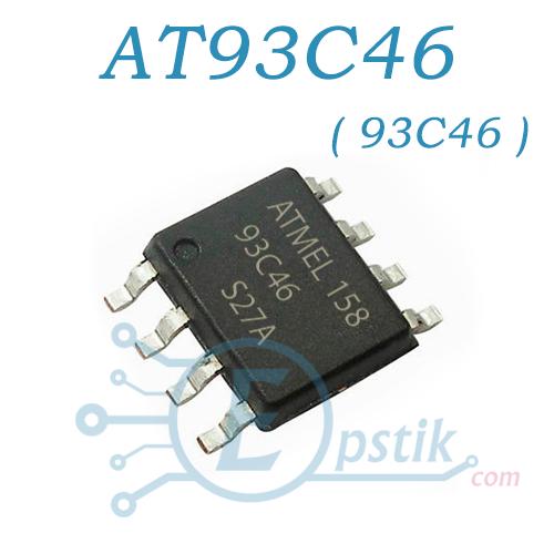 Память AT93C46DN (AT93C46), энергонезависима, SOP-8 ATMEL