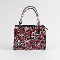 Женская модная сумочка под кожу змеи леопардовая