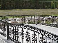 Кованая ритуальная оградка 21