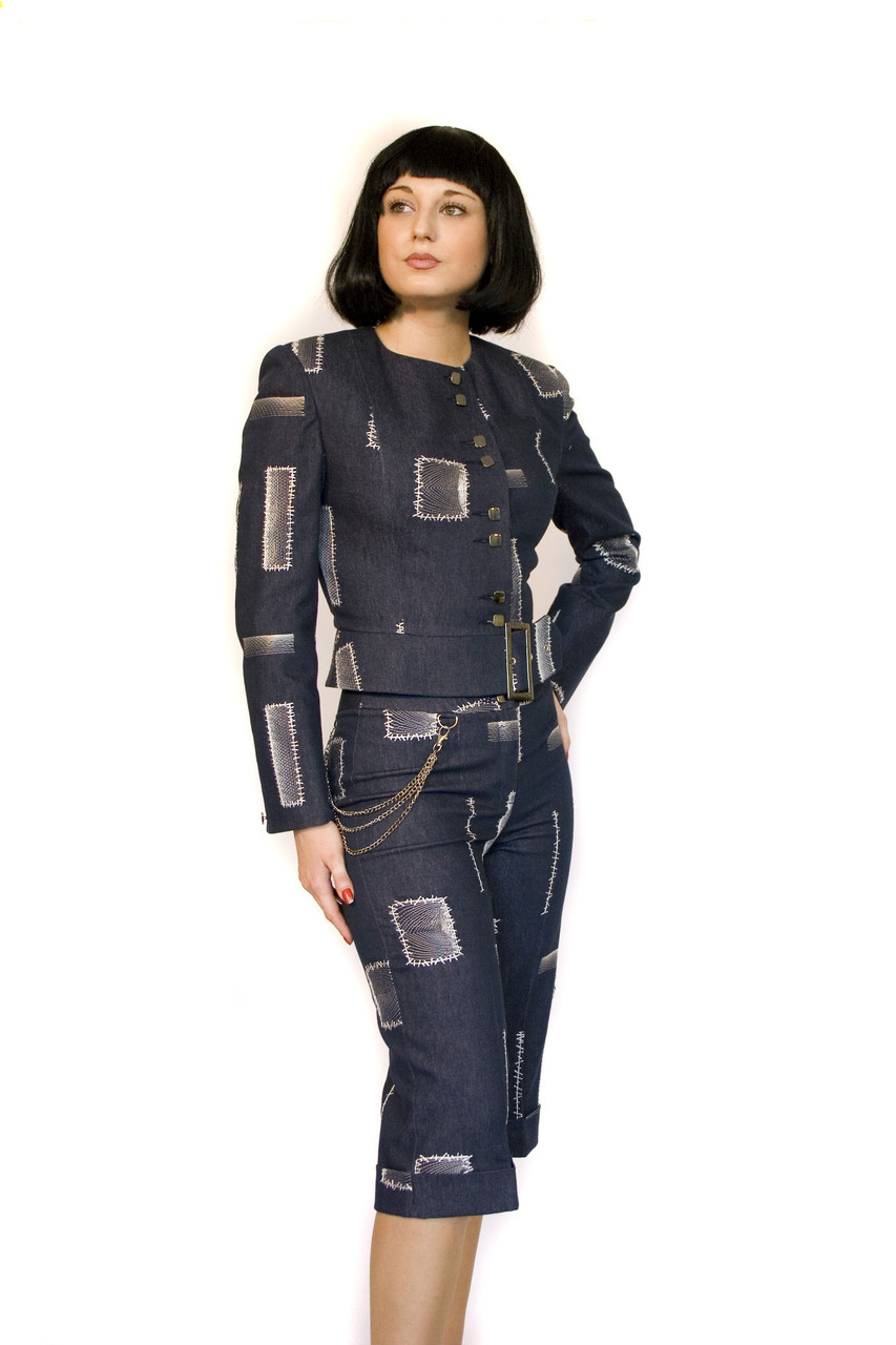 Костюм джинсовый с бриджами Арт.700 р.36,38,40
