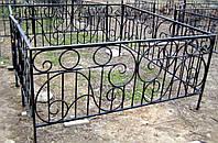 Кованая ритуальная оградка 23