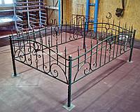 Кованая ритуальная оградка 24